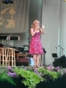 Becky Gulsvig (Legally Blonde) at the Taste of Chicago Concert 2008