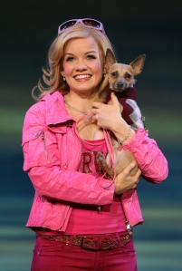 Becky Gulsvig as Elle Woods and Bruiser Woods