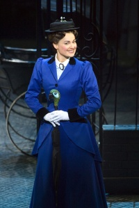 Ashley Brown as Mary Poppins. Photo by Joan Marcus.
