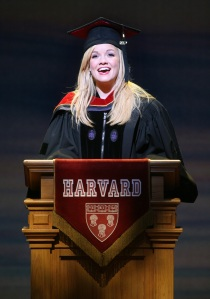 Becky Gulsvig as Elle Woods in Legally Blonde the Musical. Photo by Joan Marcus.