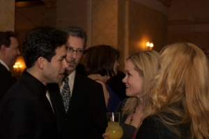 Dominic Scaglione Jr. (Jersey Boys) & Becky Gulsvig (Legally Blonde the Musical) chat before their performances at the League fo Chicago Theaters Gala