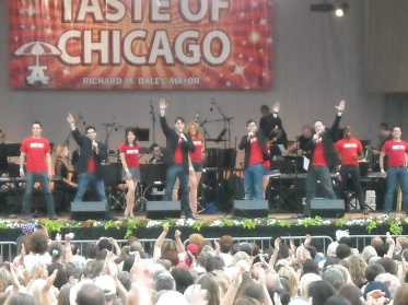 The Chicago Company of JERSEY BOYS at the Broadway In Chicago Concert in the Park