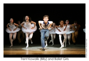Trent Kowalik (Billy) and Ballet Girls. Photo: Alastair Muir
