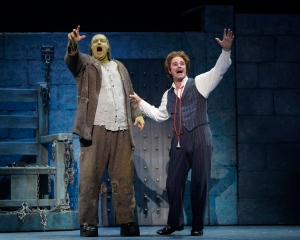 Shuler Hensley, left, and Roger Bart in Young Frankenstein National Tour. Credit: Paul Kolnik