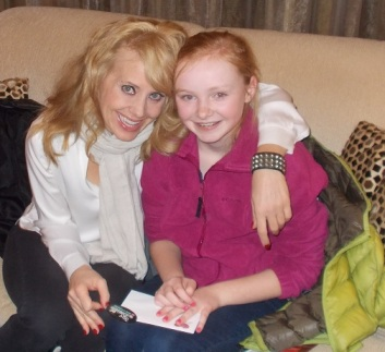 Olivia with I Love Lucy® Live On Stage star Sirena Irwin
