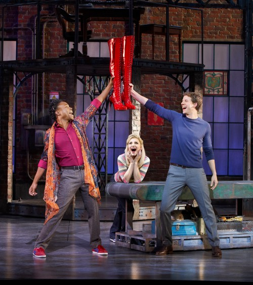 Billy Porter, Annaleigh Ashford and Stark Sands in Kinky Boots  (Photo by Sean Williams)