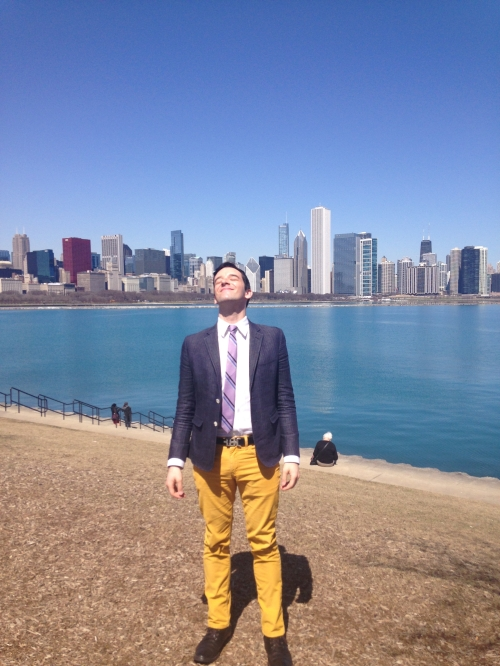 Michael Urie soaks up the sunshine in Chicago