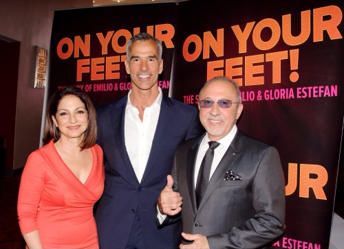 ON YOUR FEET - Emilio & Gloria Estefan with director Jerry Mitchell